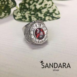 Мужские серебряные кольца с камнями