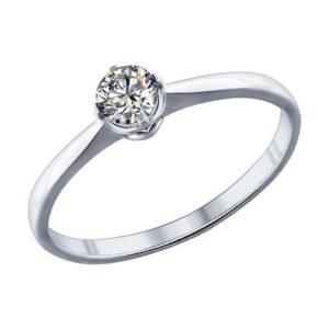 кольцо с фианитом соколов