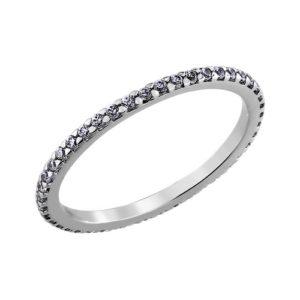 купить тонкое кольцо с прозрачными камнями SOKOLOV в Алматы