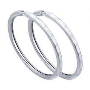 купить серьги кольца серебро